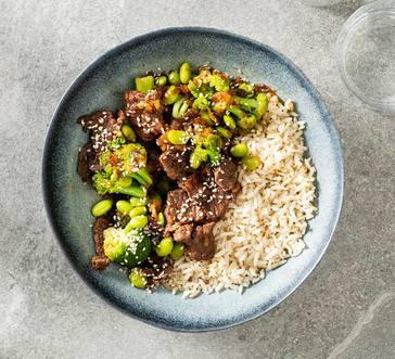 Sesame Beef Rice Bowl image