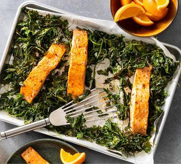 Baked Salmon with Crispy Kale image