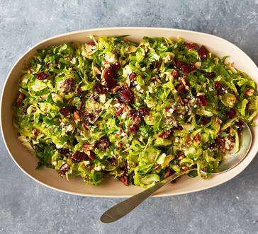 Brussels Sprouts Salad with Dried Cherries image