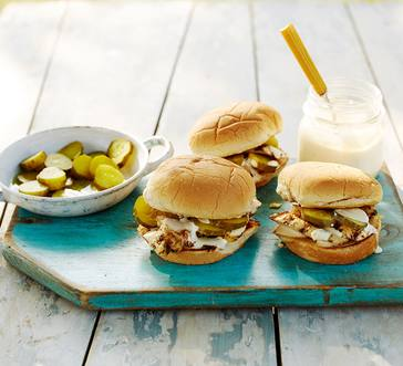 Alabama Chicken Sandwiches with White Barbecue Sauce image