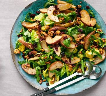 Salad with Roasted Pears and Dried Cranberries image