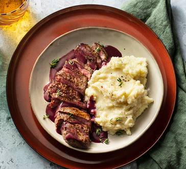 Steak with Red Wine Pan Sauce image