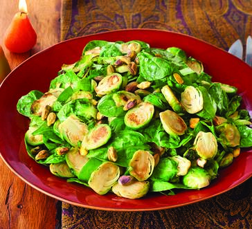 Warm Brussels Sprouts and Spinach image