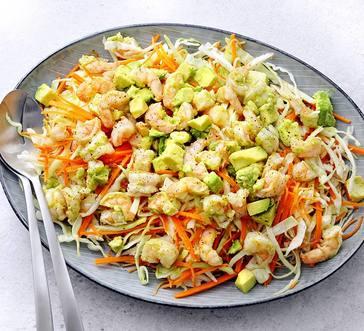 Shrimp and Avocado Salad with Slaw image