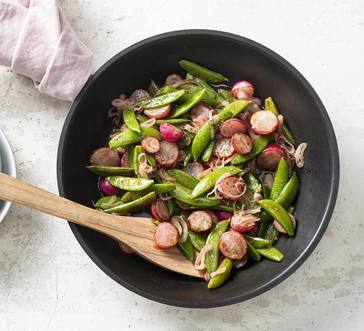 Sautéed Radishes and Sugar Snap Peas image