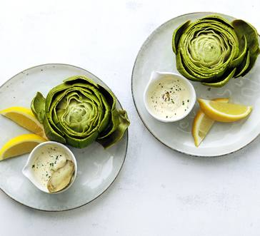 Artichokes with Creamy Lemon Dipping Sauce image