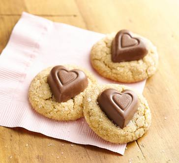Chocolate Peanut Butter Heart Cookies image