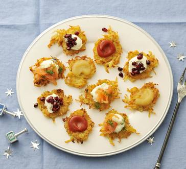 Mini Latkes and Toppings Bar image