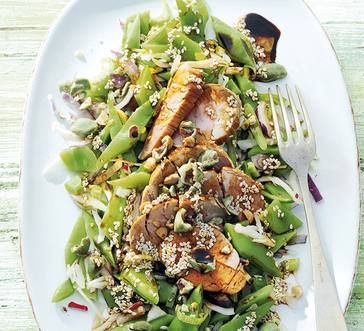 Pork And Green Bean Salad With Sesame Dressing Martin S