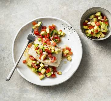 Roasted Cod with Avocado Salsa image
