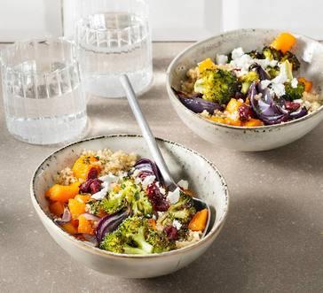 Quinoa Bowl with Roasted Veggies and Feta image