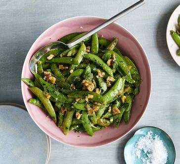 Buttery Sugar Snap Peas with Walnuts image