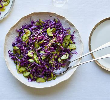 Cucumber-Cabbage Salad with Lemon-Dill Vinaigrette image