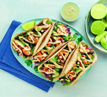Hellmann's® Cilantro Lime Shrimp Tacos image