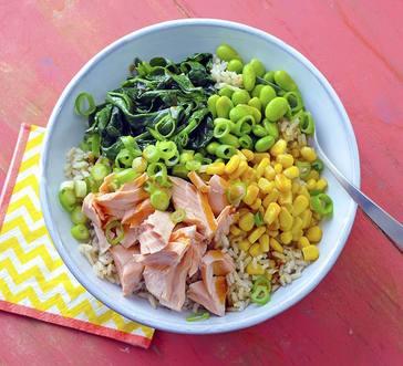 Salmon and Edamame Rice Bowls image