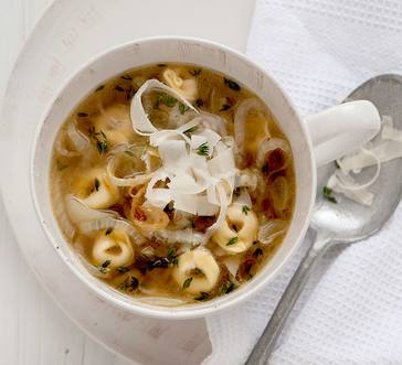 Onion Soup with Tortellini image
