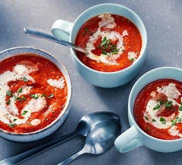 Oven-Roasted Tomato-Garlic Soup image