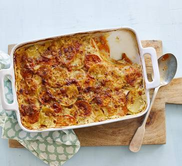 Yukon Gold and Sweet Potato Gratin image