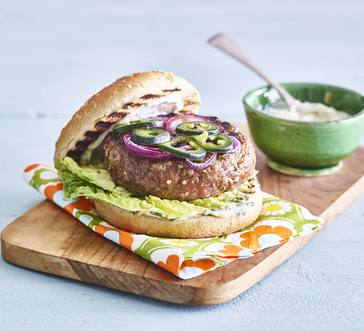 Spicy Burgers with Cilantro Mayo image
