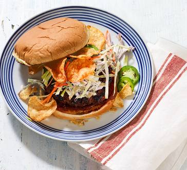 Sweet 'N' Heat BBQ Crunch Burgers image