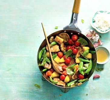 Sweet & Sour Pork with Summer Vegetables image