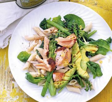 Pasta with Avocado and Salmon image