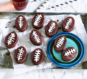 Black Bean Brownie Footballs image