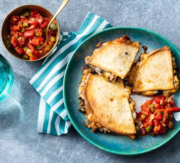 Sweet Potato and Black Bean Quesadillas image