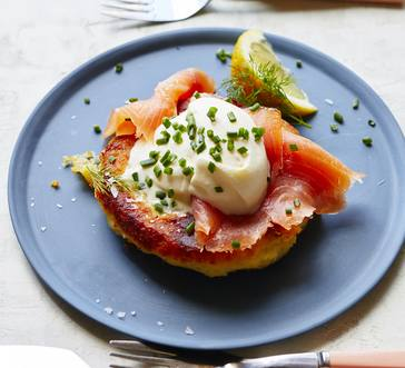 Mashed Potato Cakes with Smoked Salmon Inspiration image