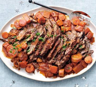Sweet-and-Sour Brisket with Root Vegetables image