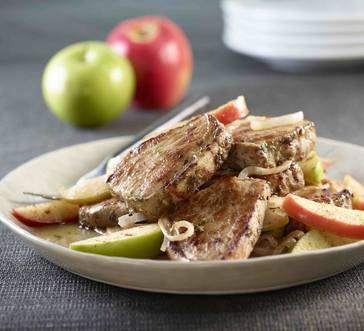 Smithfield® Garlic Herb Pork Medallions with Apples image
