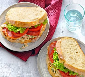 Tuna Club Sandwich image