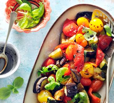 Grilled Balsamic Eggplant, Peppers, and Zucchini image