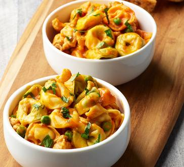 Tortellini with Chicken Sausage in Butternut Squash Sauce image