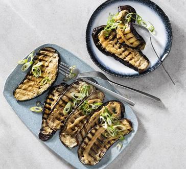 Miso-Glazed Grilled Eggplant image