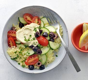 Veggie and Couscous Bowl with Hummus image
