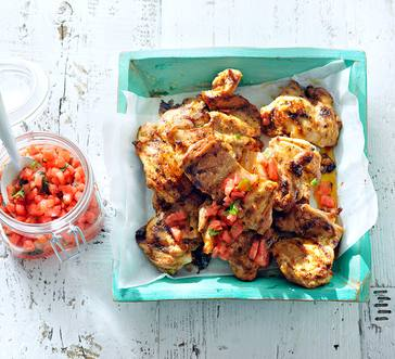 Grilled Chicken with Watermelon Salsa image