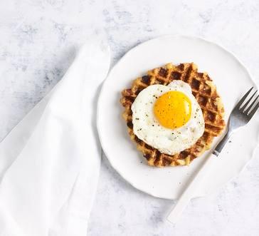 Mashed Potato and Bacon Waffles image