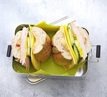 Hummus and Turkey Sandwiches image
