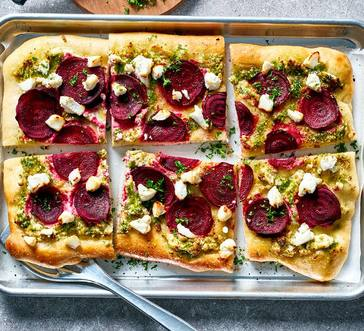 Beet and Goat Cheese Flatbread image