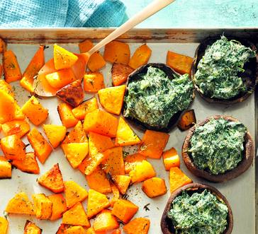 Stuffed Portabellas and Roasted Butternut Squash image