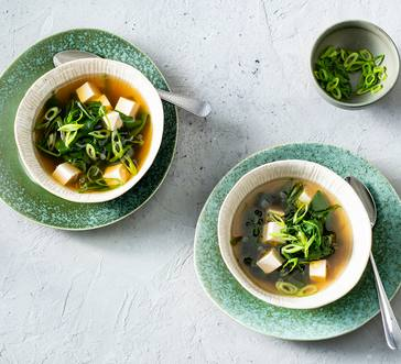 Gingery Broth with Tofu and Spinach image