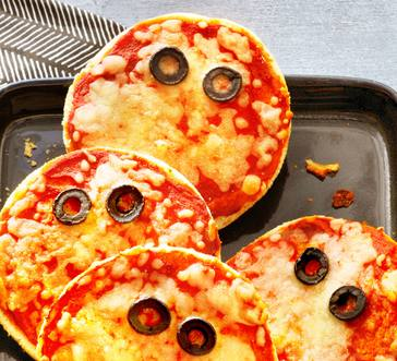 Ghoulish Mini Pizzas image