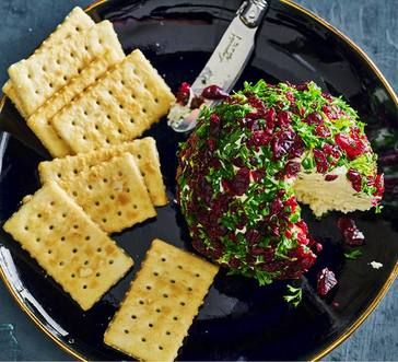 Cranberry and Herb Cheese Ball image