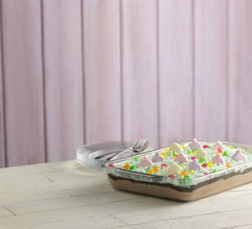Easter Egg Hunt Layered Pudding Dessert image