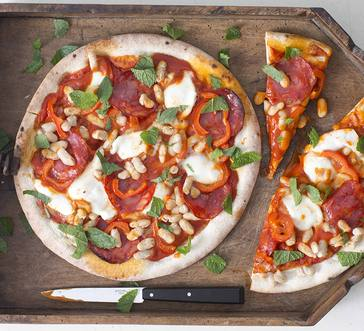 Pepperoni Pizza with Cannellini Beans and Bocconcini image