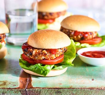 Grilled Veggie Burgers image