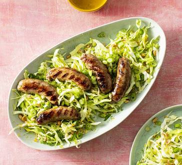 Grilled Sausages with Cabbage Slaw image