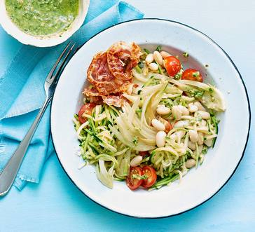 Zucchini Noodles with Pesto image