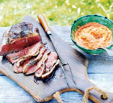 Grilled Sirloin Strip with Romesco Sauce image